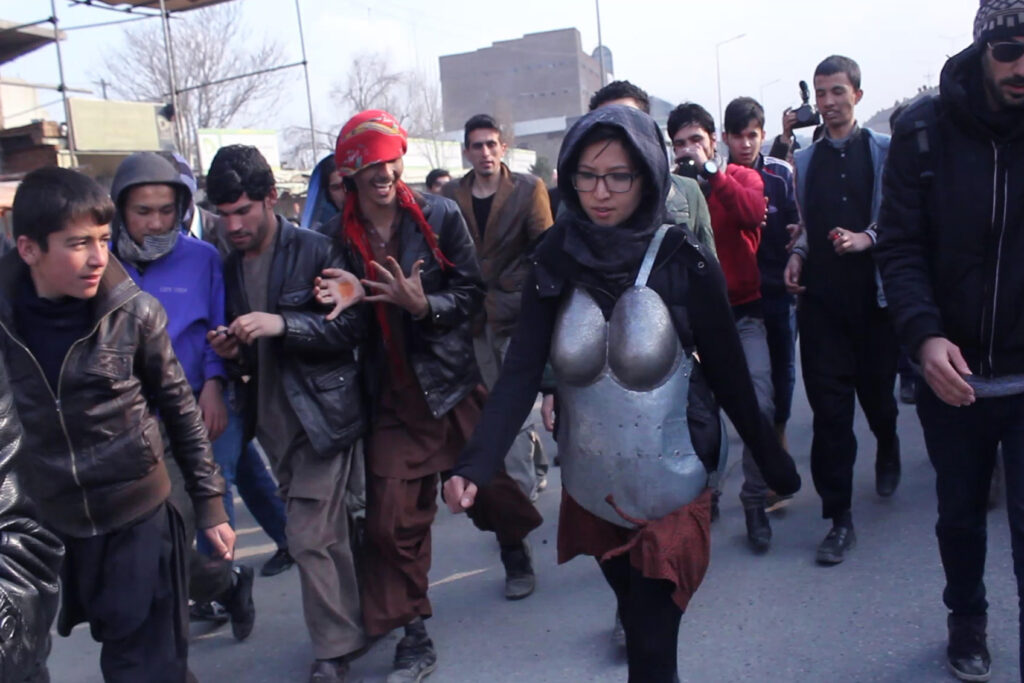 Kubra Khademi performs Armor in Kabul (2015)